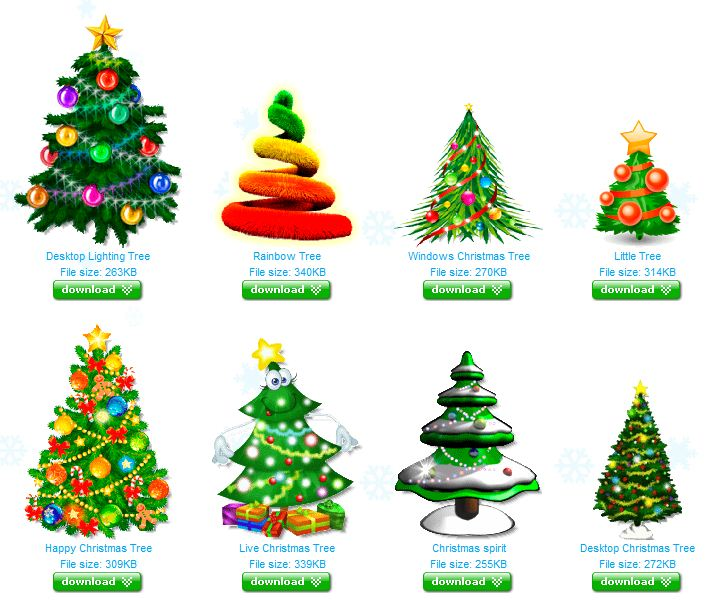 You Can Select And Download Several Animated Christmas Trees ...