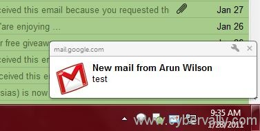 gmail popup Get Gmail New Mail / Chat Notification via Popups For Chrome