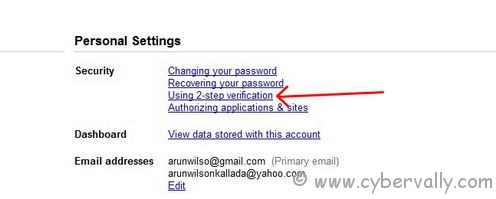 2 step 1 How to Turn Off 2 Step Verification in Google Accounts