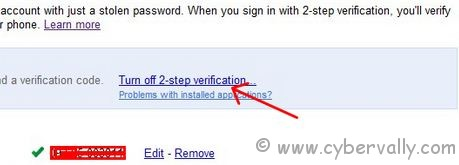 2 step 2 How to Turn Off 2 Step Verification in Google Accounts