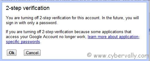 2 step 3 How to Turn Off 2 Step Verification in Google Accounts