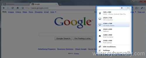 WindowResizer Top 5 Google Chrome Extensions For Web Developers and Designers