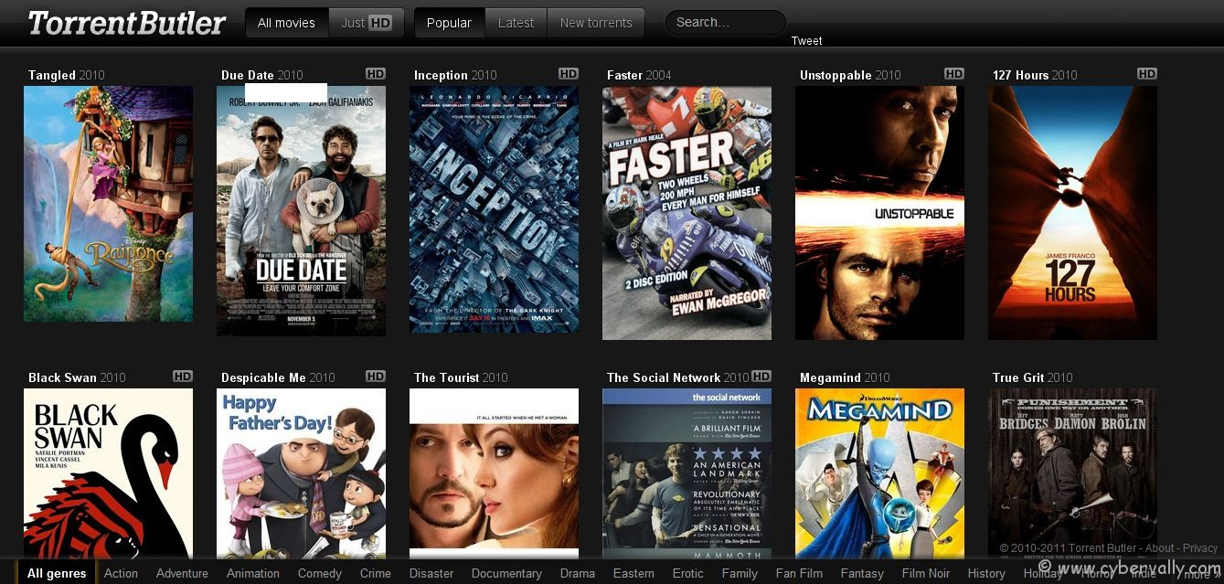 torrentbutler Search Movie Torrent with Visual, Movie Based Torrent Discovery Engine