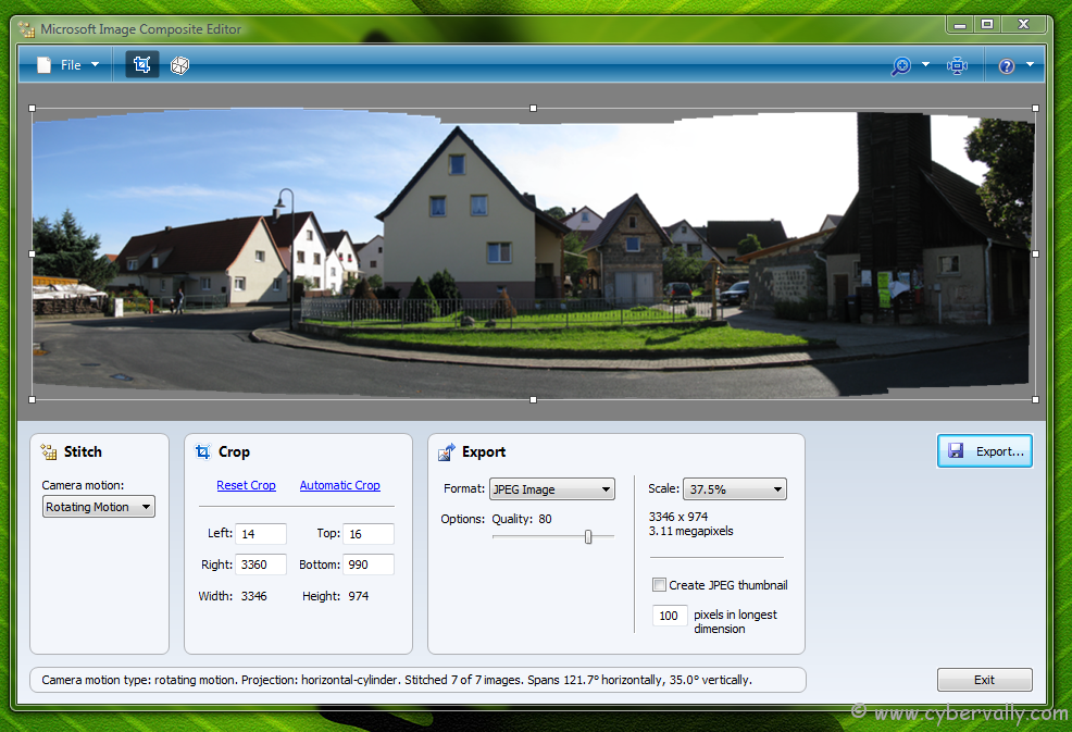 msice Create Amazing Panoramic Images with Microsoft Image Composite Editor