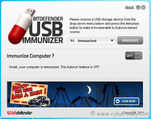 6551 Protect Your USB Storage Device Using BitDefenderUSB Immunizer