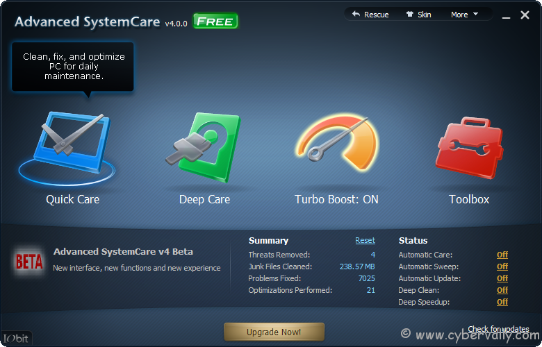 asc4 main Advanced SystemCare 4, a One Stop Solution for Superior PC Cleaning, Repair, and Optimization