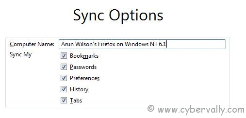 firefox sync 2 How To Setup Firefox Sync In Firefox 4 for Backup Your Datas