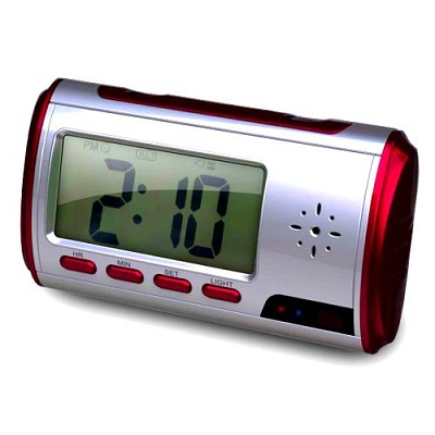 Mini Clock Camera DVR XL 5 Spy Cameras Hidden in Everyday Objects