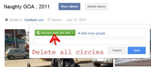 delete all circles How to Create Private Photo Album in Google Plus