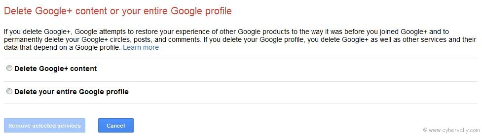 delete google plus How to Delete or Remove Google Plus Account