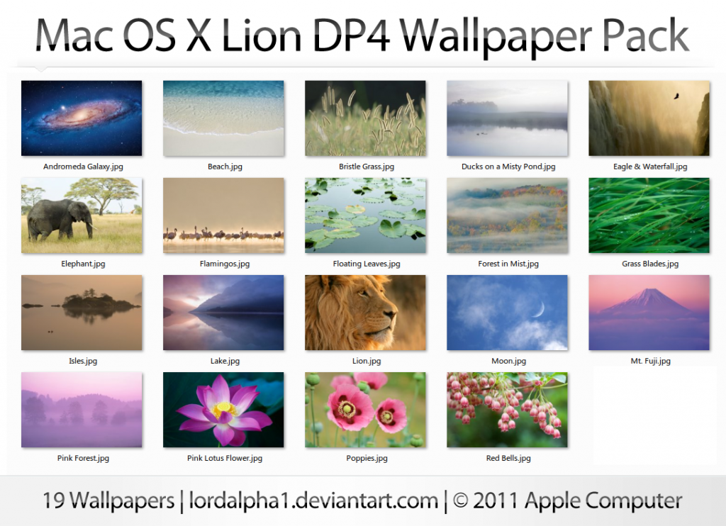 Download Complete High Quality Mac OS X Lion Wallpapers