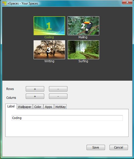 Create multiple desktops on windows 7 with nspaces - Nspaces virtual desktop ...
