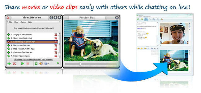 video2webcam screen Get Free License of Video2Webcam for Windows