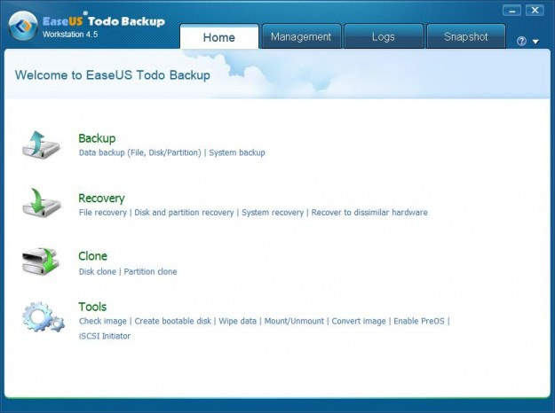 easeus home 4.5 EaseUS Todo Backup Workstation 4.5 Review and Giveaway   10 Licenses Free to Grab