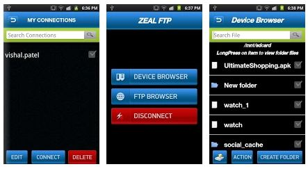 ZealFTP Top 5 Free FTP Clients for Android OS