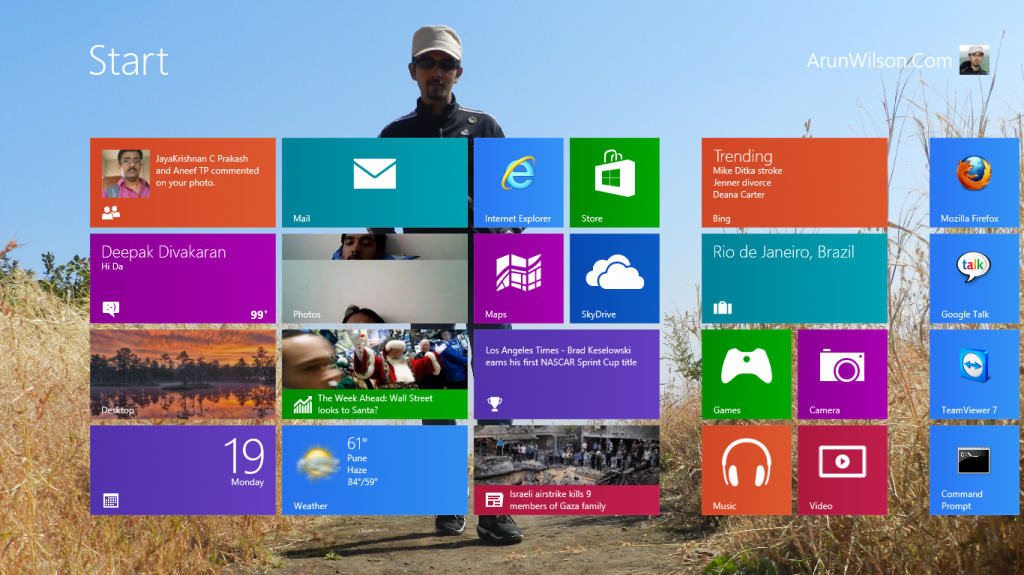 win 8 start 1024x575 Customize Windows 8 Start Screen Using Windows 8 Start Screen Customizer