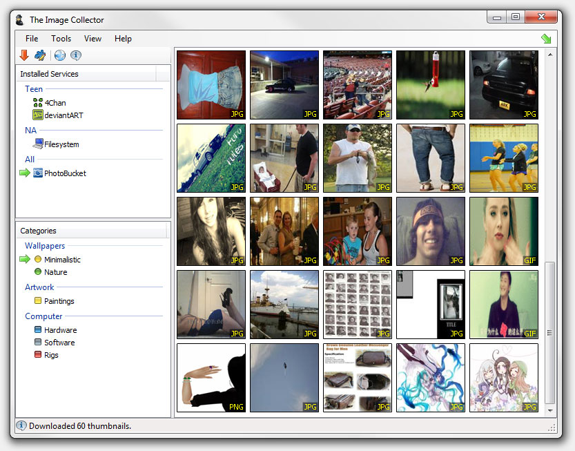Image Collector Download Bulk Images from The Internet Using The Image Collector