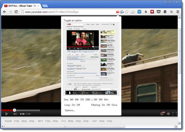 youtube options new